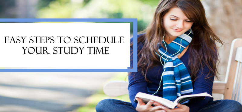 Easy steps to schedule your study time