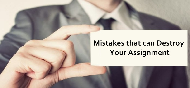 Mistakes that can Destroy Your Assignment